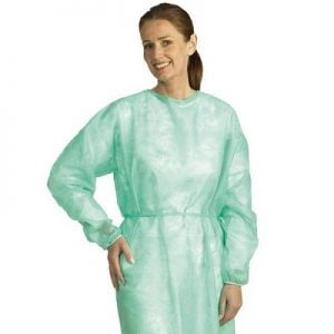 Molnlycke beschermjas blauw - niet steriel - XL